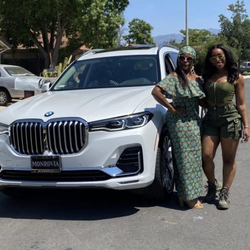 Lady Gifts Her Mum A 27 Million Naira BMW Car For Her 59th Birthday.