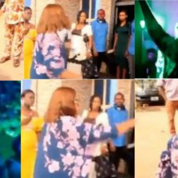 Woman Disrupts Her her Husband's Marriage Ceremony to his Mistress In Abia(Video)