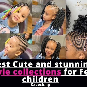Latest Cute and stunning  Hairstyle collections for Female children