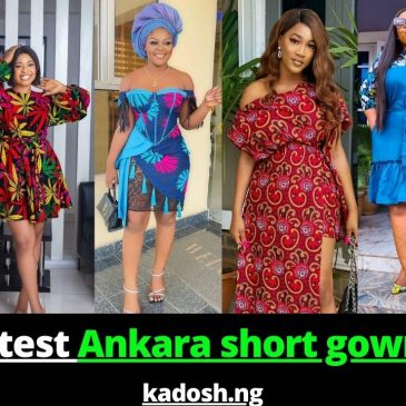2021 Latest Ankara short gown styles