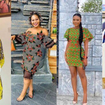Latest Attractive ankara short gown styles