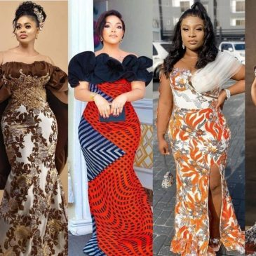 Classic and Elegant Ankara long gown styles collections